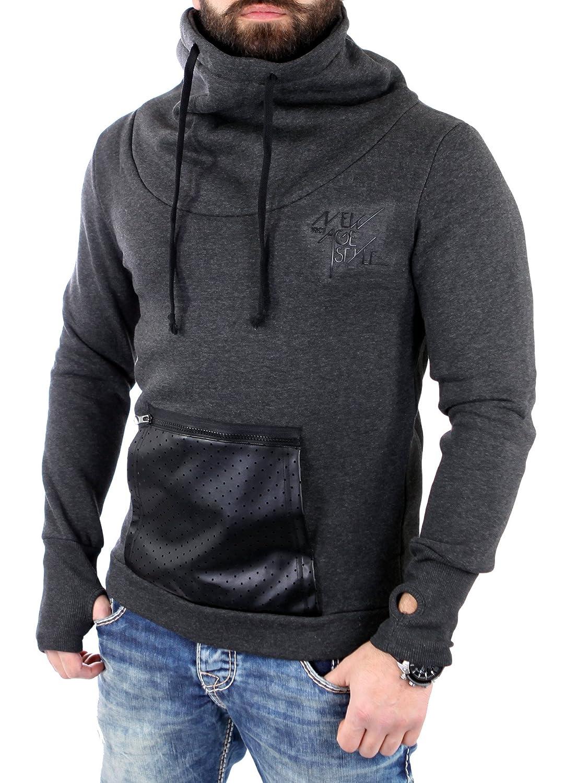 VSCT Sweatshirt Herren Tube Hoody Zip-Mesh-Tasche Pullover Hoodie V-5641439 Neu