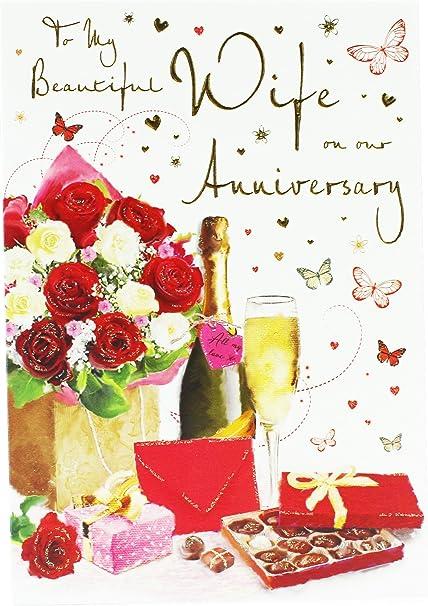 Auguri Alla Moglie Per L Anniversario Di Matrimonio.Anniversario Di Matrimonio Biglietto D Auguri Per La Moglie Verse
