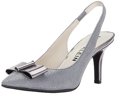 9aca44b4f83 Anne Klein Women s YANNAH Leather Pump Dark Grey 6 ...