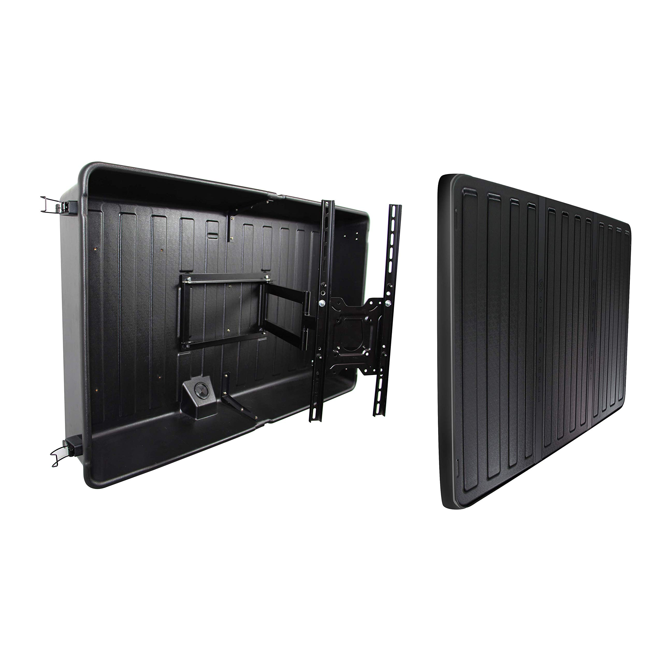 Storm Shell Outdoor TV Hard Cover Weatherproof Protection for Television - Mounts Right on The Wall - TV Wall Mounting Bracket Included … (56-65 inch)