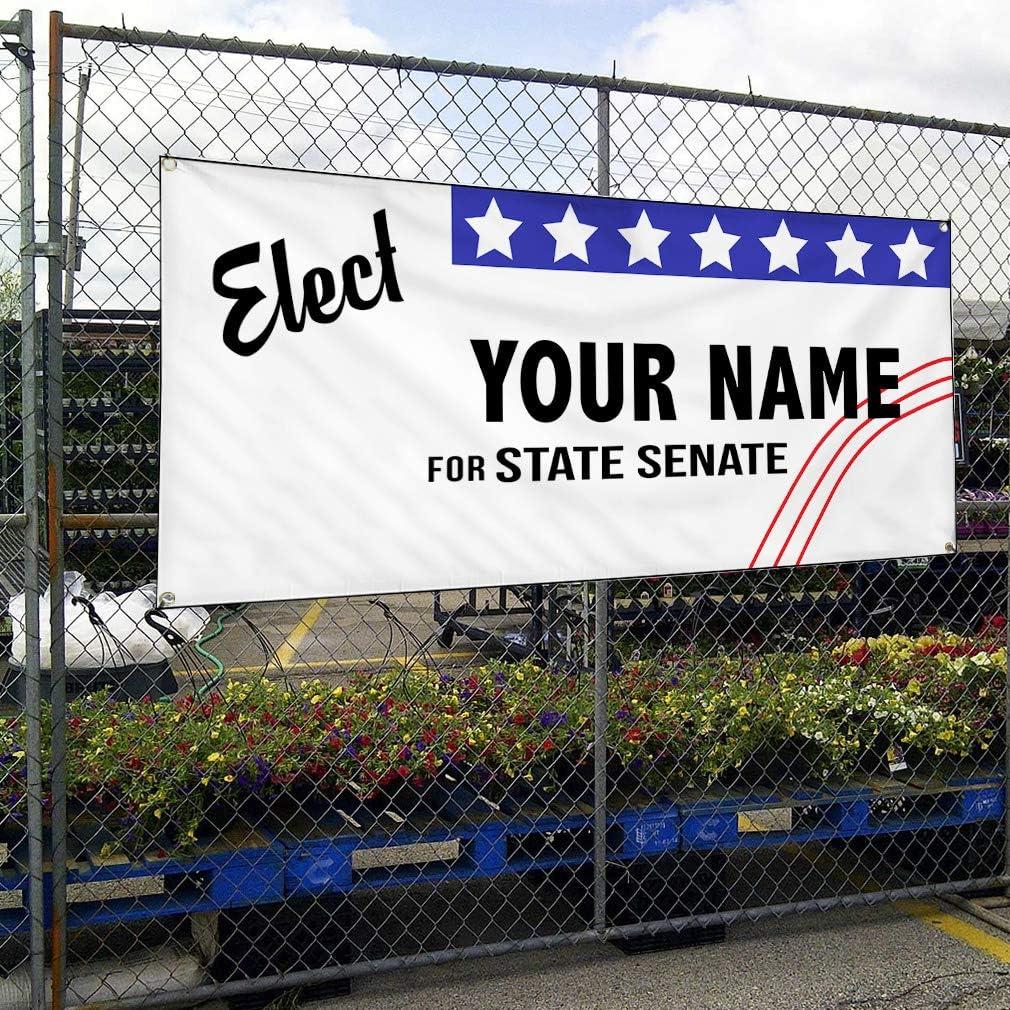 Custom Vinyl Banner Sign Multiple Sizes Elect Name for Position ...