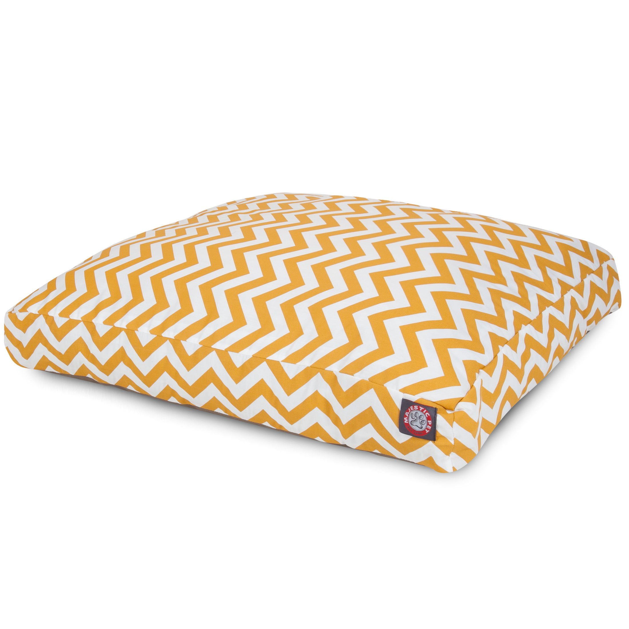 Yellow Chevron Extra Large Rectangle Indoor Outdoor Pet Dog Bed With Removable Washable Cover By Majestic Pet Products