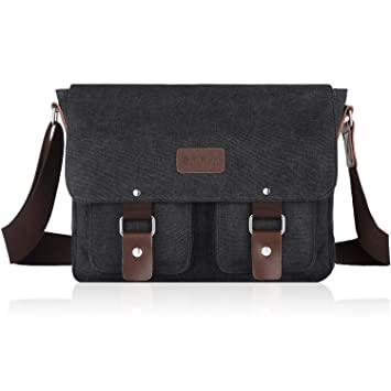 Amazon.com: SMRITI 14-Inch Canvas Messenger Bag Laptop Satchel for ...