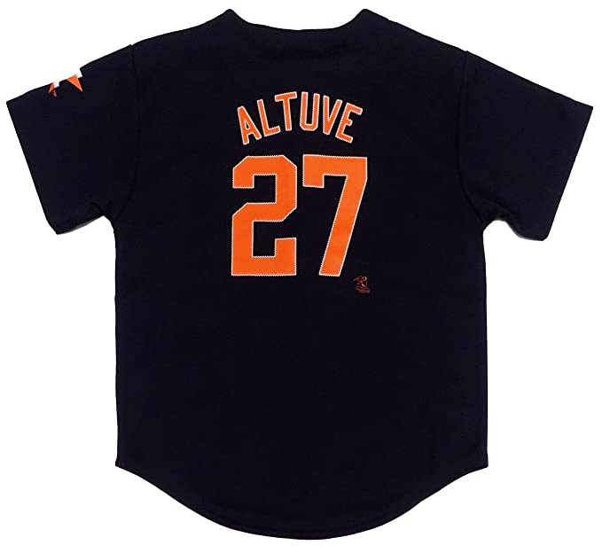 factory price cbe80 93c7d Outerstuff Jose Altuve Houston Astros #27 Navy Blue Youth Player Fashion  Jersey