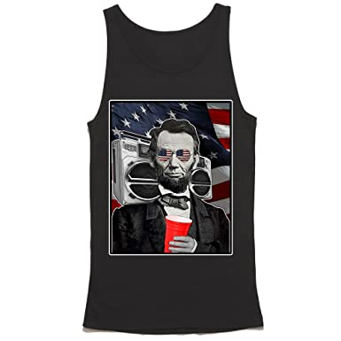 7af3e140729cf9 Amazon.com  HGOS Abroham Lincoln Tank Top - Funny Abe Lincoln Shirt - 4th  of July Bro Tank - USA  Clothing