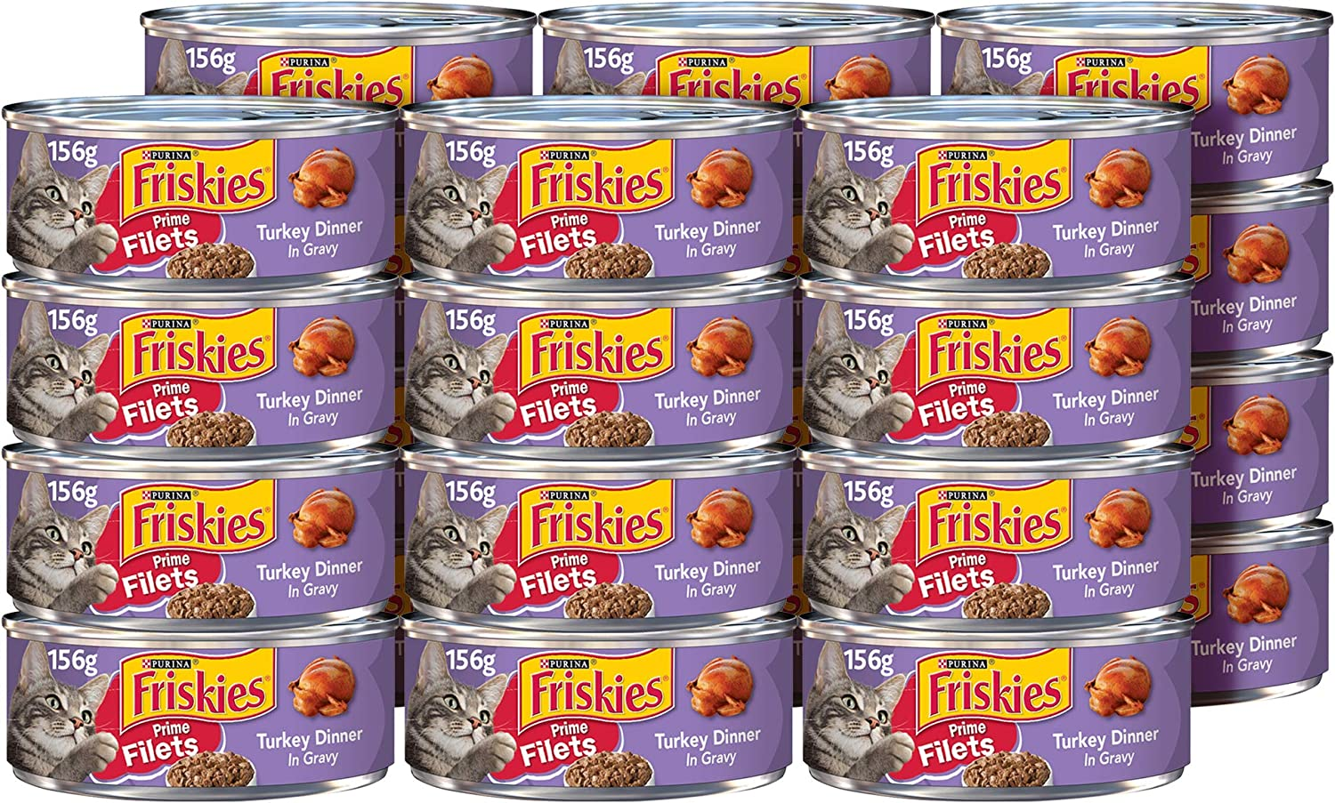 Friskies Prime Filets With Turkey In Gravy Canned Cat Food 24 - 5.5oz Cans