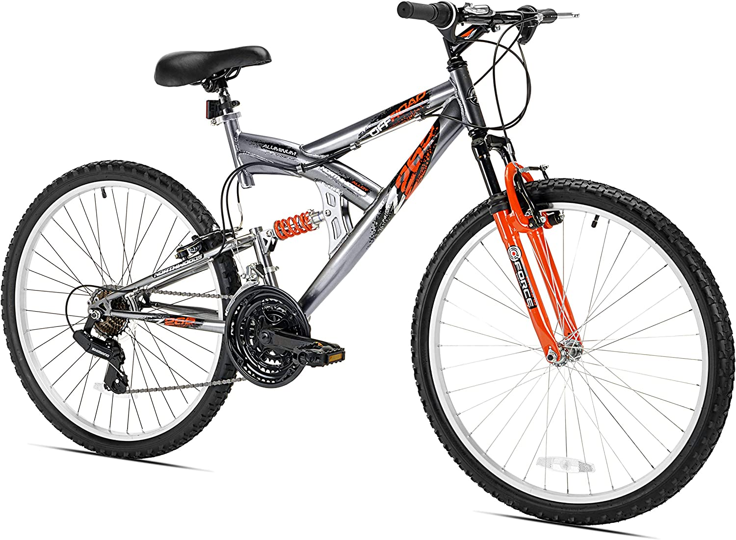 best mountain bike under 500: Northwoods Aluminum Full Suspension Mountain Bike