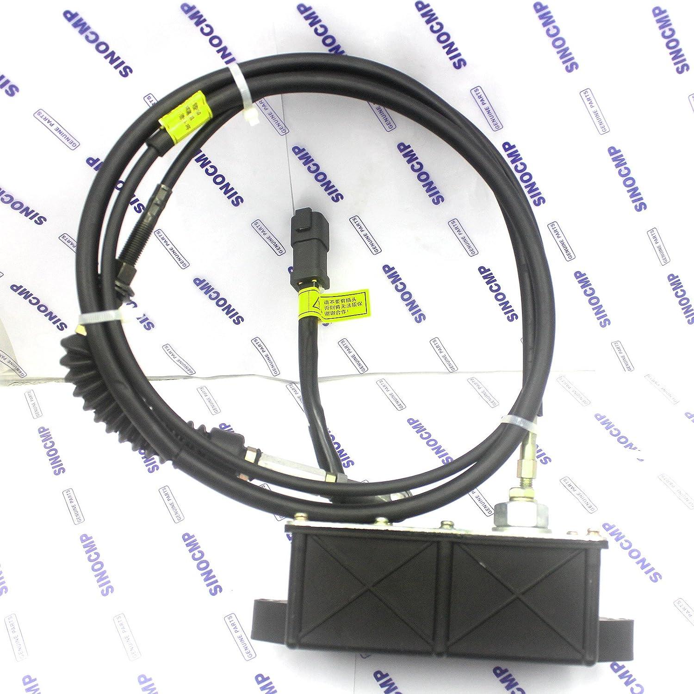 6 Month Warranty 21EN-32260 Accelerator Throttle Motor 5 Pins Square Plug SINOCMP Square Stepping Motor for Hyundai R110-7 R140LC-7 R210LC-7H R220LC-7H R140W-7 Excavator Parts