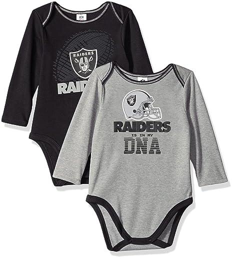 Amazon.com   NFL Oakland Raiders Unisex-Baby 2-Pack Long-Sleeve ... f9e46820b