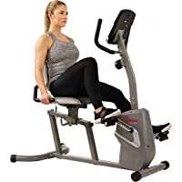 Sunny Health & Fitness Unisex Adult SF-RB4806 Magnetic Recumbent Bike - Silver, One Size