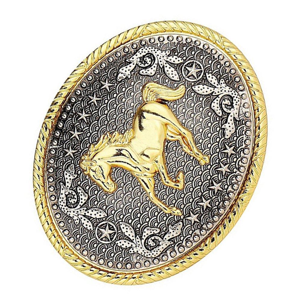 Fenteer Western Cowboy Rodeo Belt Buckles Horse Native American Indian Fibbia Per Cintura Fit 3,6-3,9cm Cintura