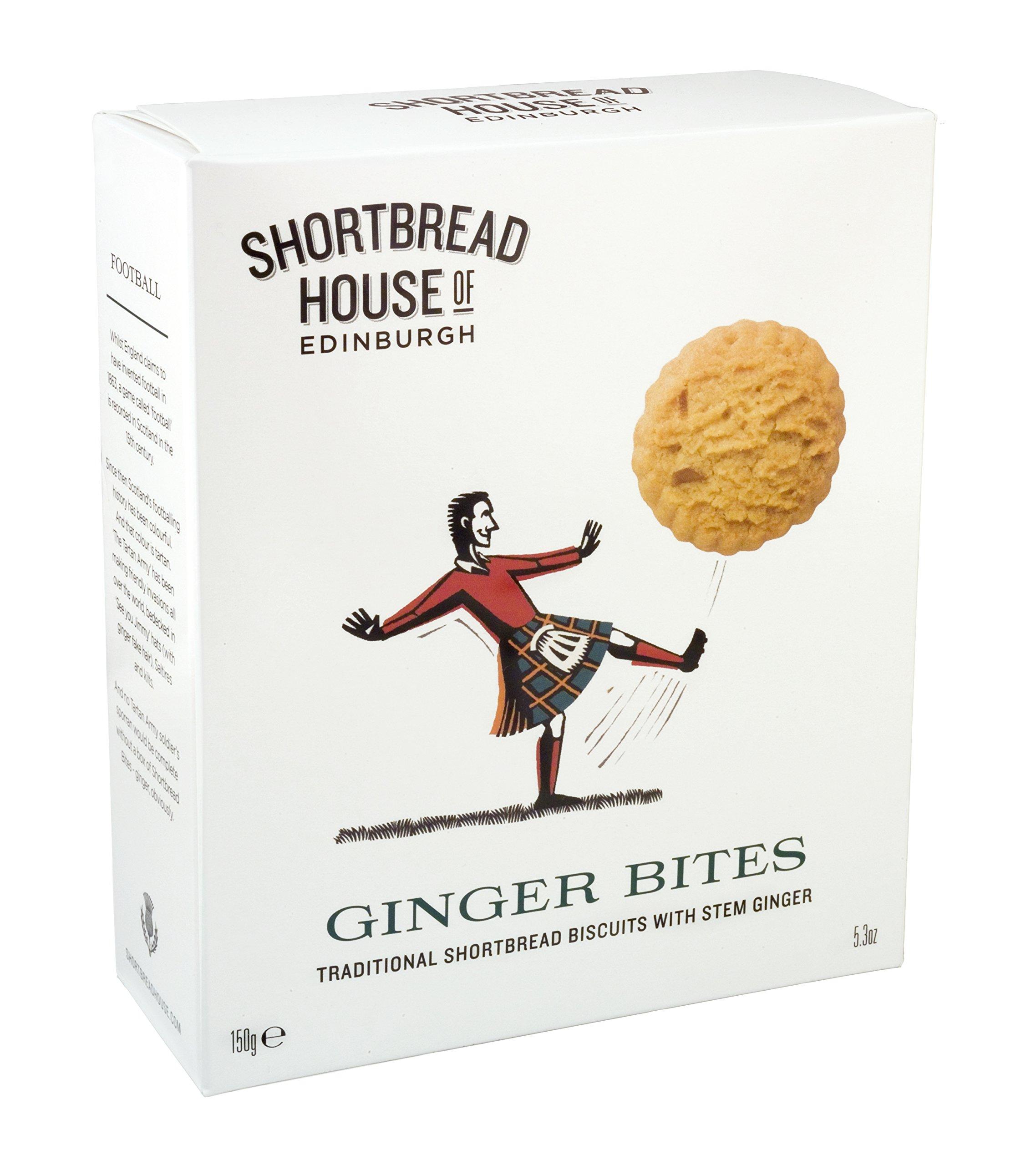Shortbread House of Edinburgh Scottish Shortbread Bites, Ginger, 5.3-Ounce (Pack of 8)