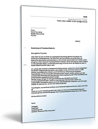 anschreiben bewerbung finanzbuchhaltung word dokument download amazonde software - Bewerbung Maschinen Und Anlagenfuhrer