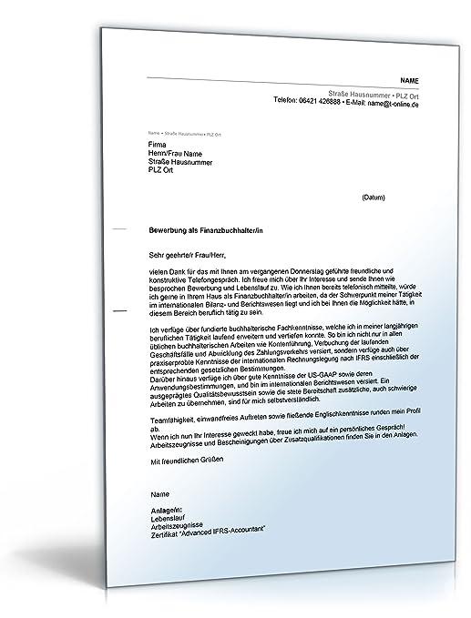 anschreiben bewerbung finanzbuchhaltung word dokument download amazonde software - Bewerbung Maschinen Und Anlagenfhrer
