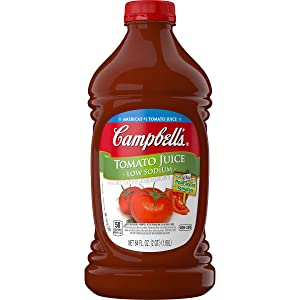 Campbell's Low Sodium Tomato Juice, 64 oz. Bottle (Pack of 6)