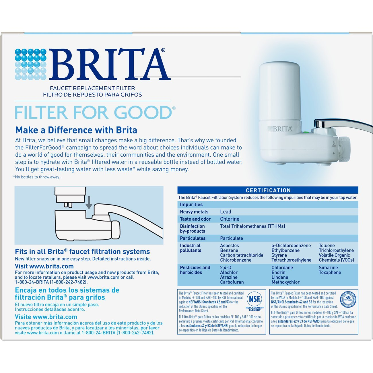 Amazon.com: Brita On Tap Basic Water Faucet Filtration System Filter ...