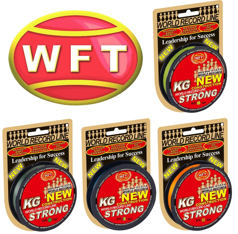 Geflochtene Schnur WFT KG Strong 300m 0,22mm 32kg Angelschnur Meeresschnur Geflechtschnur