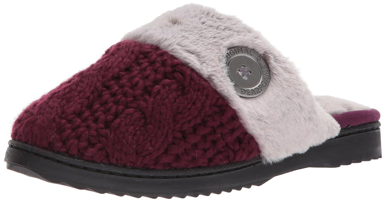 5d9aa56df7b3f Amazon.com   Dearfoams Women's Cable Knit Closed Toe Scuff   Slippers