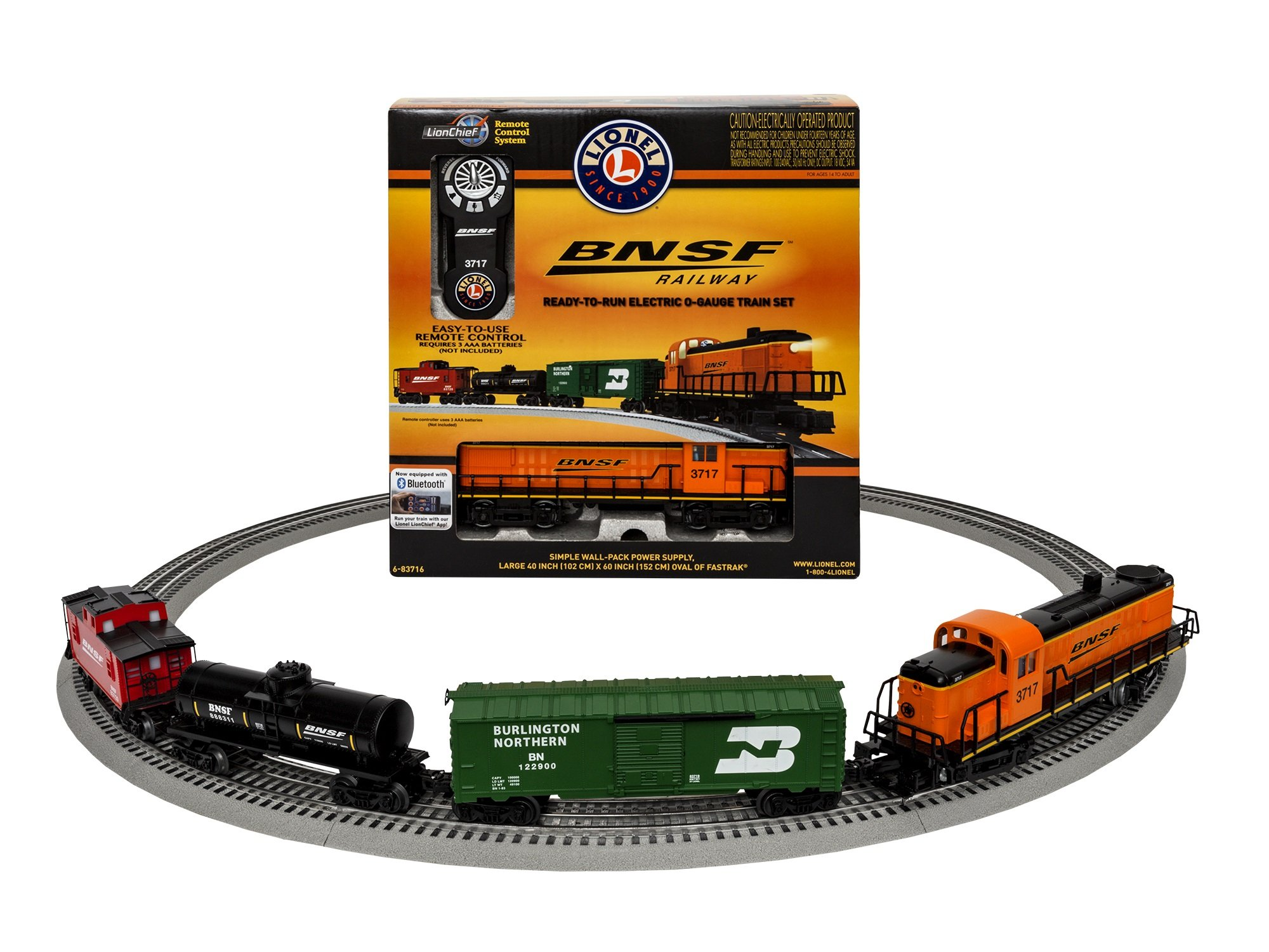 Lionel BNSF RS-3 Scout Freight Set with Blue Tooth Train Set
