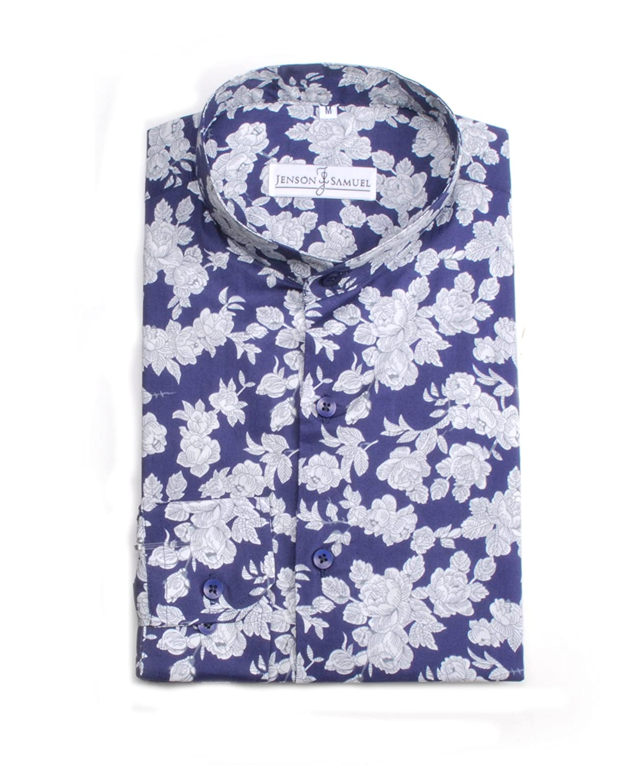sizes small to 4XL Striped Plain Floral Formal Grandad Collar Mens Shirt