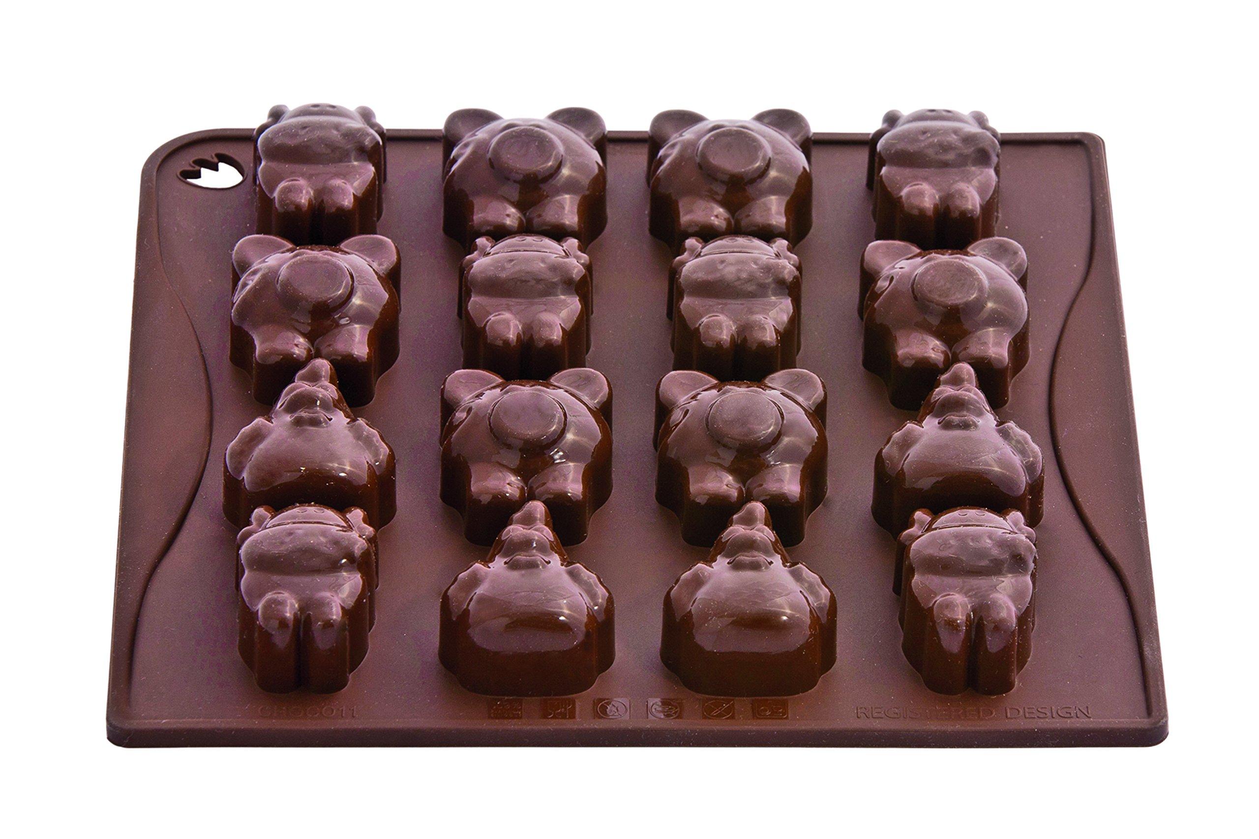 Pavoni CHOCO11 Platinum Silicone Farm Animals Chocolate Mould, Brown by Pavoni (Image #1)