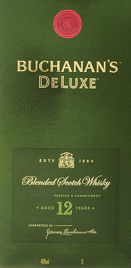 Buchanans Deluxe Whisky Escocés - 1000 ml