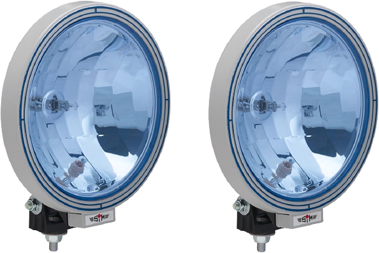A1 2x 12 24 V 22 5 Cm Zusatz Fernscheinwerfer Für Lkw Blau Rund Neu Hochwertig Klar Auto