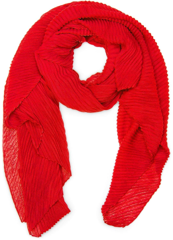 styleBREAKER pashmina tessuto increspato, a tinta unita, effetto stropicciato, foulard, da donna 01016107 colore:Albicocca