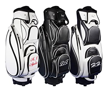 Kellermann Golf Madeira Cart Bag custom embroidered with name/initials  available in black
