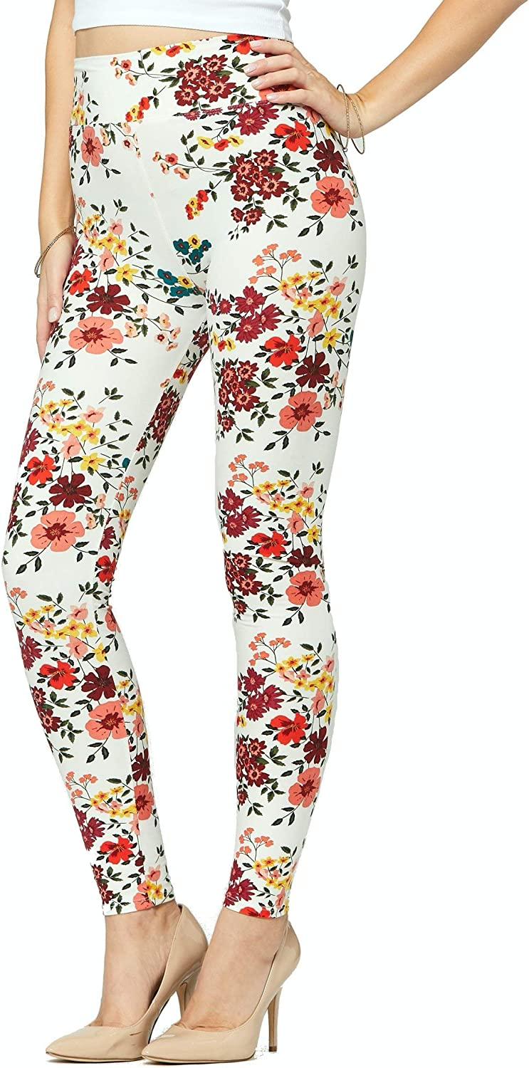 Buttery-Soft Yoga Waist Printed Leggings for Women 100+ Prints and Solids in Regular and Plus Size