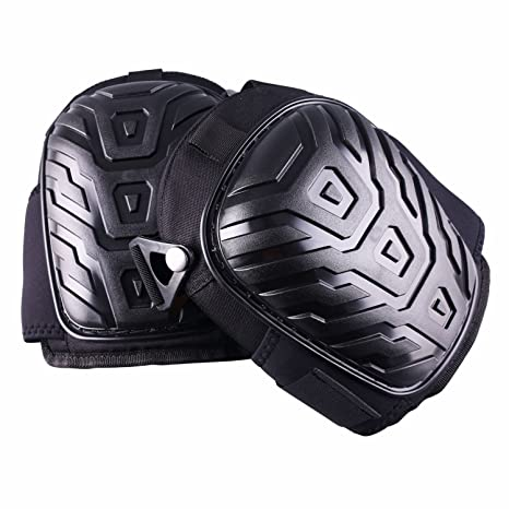 Profesional rodilleras, capa Gel Neopreno tela maletero resistente acolchado de espuma, cómodo cojín de