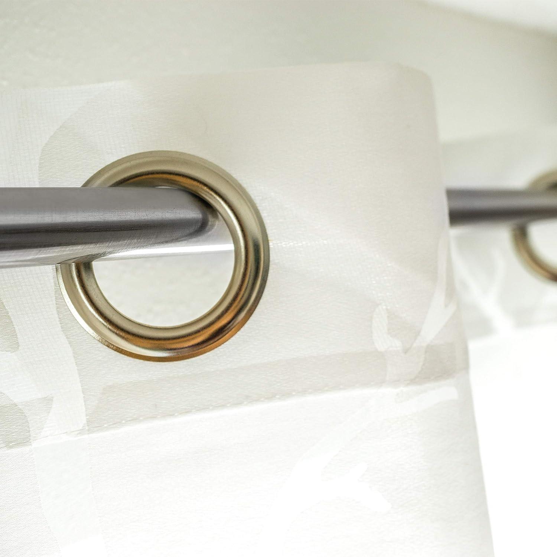 66-110 cm Plateado Acero Inoxidable Relaxdays Barra Cortina Extensible