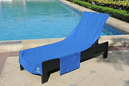 Amazoncom Perfect Chaise Lounge Towel Cover with Storage Pockets