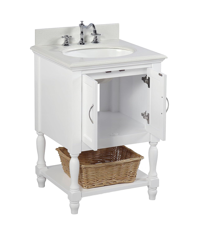 Beverly 60 cm mueble de baño (cuarzo/blanco): Incluye un color ...