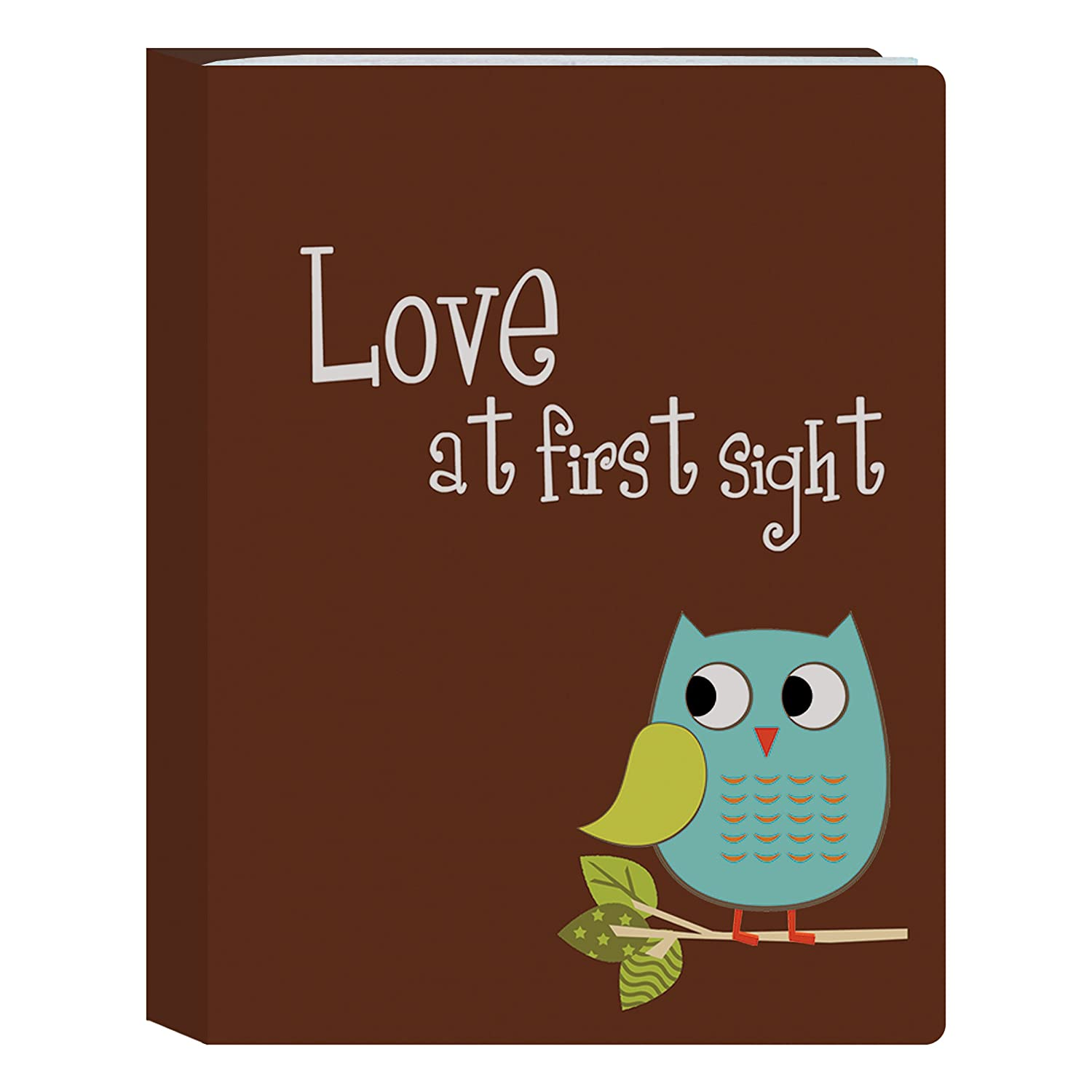 Pioneer Photo Albums I-46B/OB 36-Pocket Baby Owl Designer Photo Album, Blue Inc