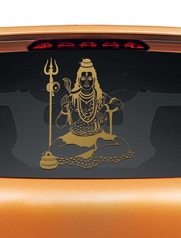 Walldesign car stickers lord shiva copper colour reflective stickers amazon in car motorbike