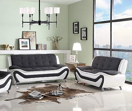 Amazon.com: Lifestyle Furniture 2-Pieces Aldo Modern Living Room ...