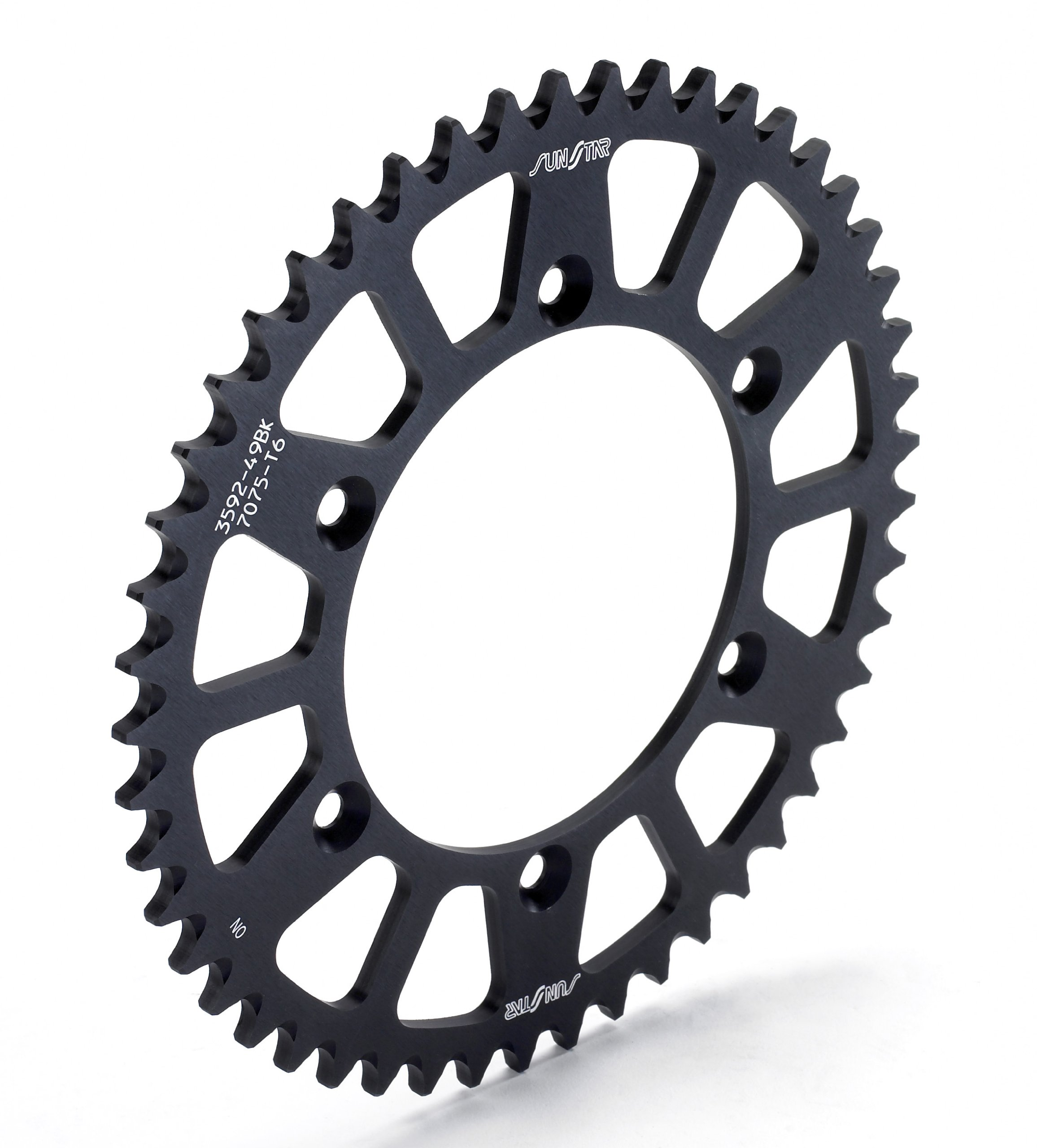 Sunstar 5-355950BK Works Triplestar Black 50-Teeth 520 Chain Size Rear Aluminum Sprocket