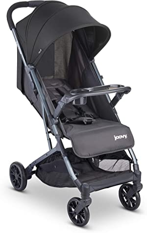 Joovy Kooper Stroller, Lightweight Stroller, Compact Fold with Tray, Forged Iron