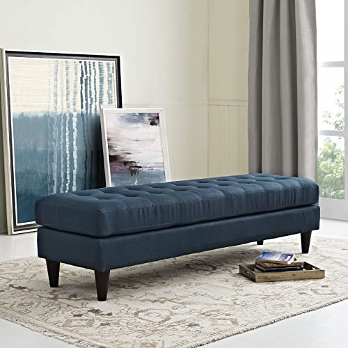Modway Empress Mid-Century Modern Upholstered Fabric Large Bench
