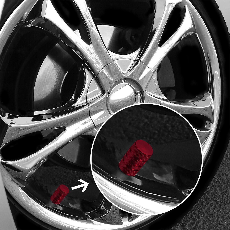 2 Set tappi valvola alluminio per cambio gomme pneumatici Marcatore-nero-NUOVO
