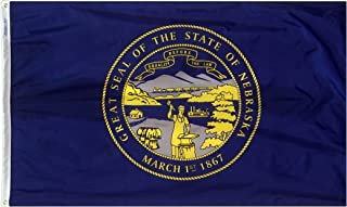 product image for Annin Flagmakers Model 143260 Nebraska State Flag 3x5 ft. Nylon SolarGuard Nyl-Glo 100% Made in USA to Official State Design Specifications.