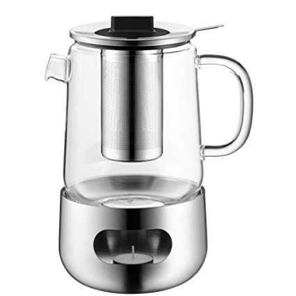 WMF 636906030 de la tetera con colador de té y calientaplatos SensiTea