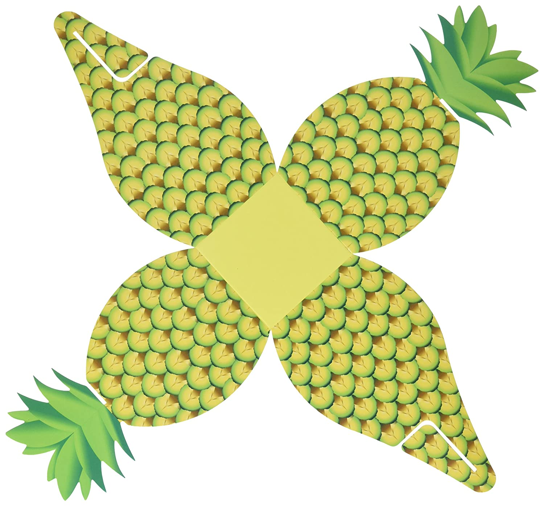 Artisano Designs Tropical friandises surdimensionné Ananas Boîte à dragées, 24-pack A21005