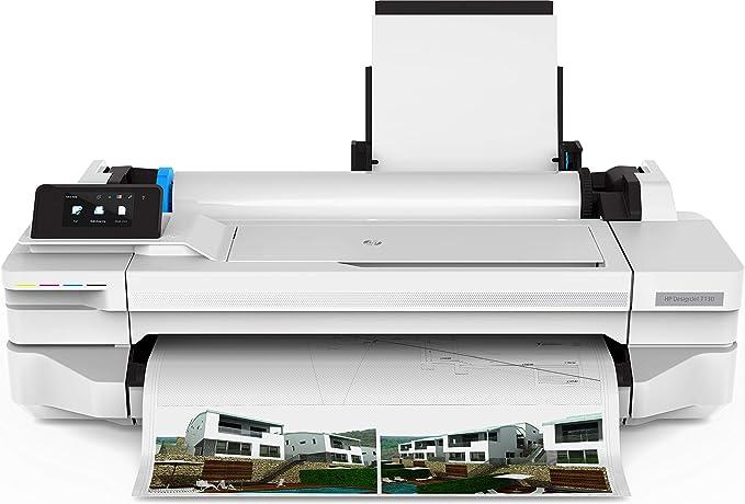 HP Designjet T130 - Impresora de Gran Formato (1200 x 1200 dpi, Inyección de Tinta térmica, 1200 x 1200 dpi, Negro, Cian, Magenta, Amarillo, 70 pph, 0.3 mm): Amazon.es: Informática