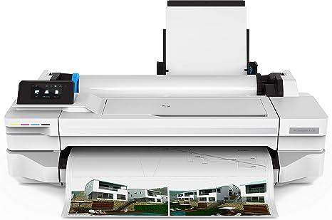 HP Designjet T125 - Impresora de Gran Formato (1200 x 1200 dpi, Inyección de Tinta térmica, Negro, Cian, Magenta, Amarillo, 60 pph, 0.3 mm, 10 cm)