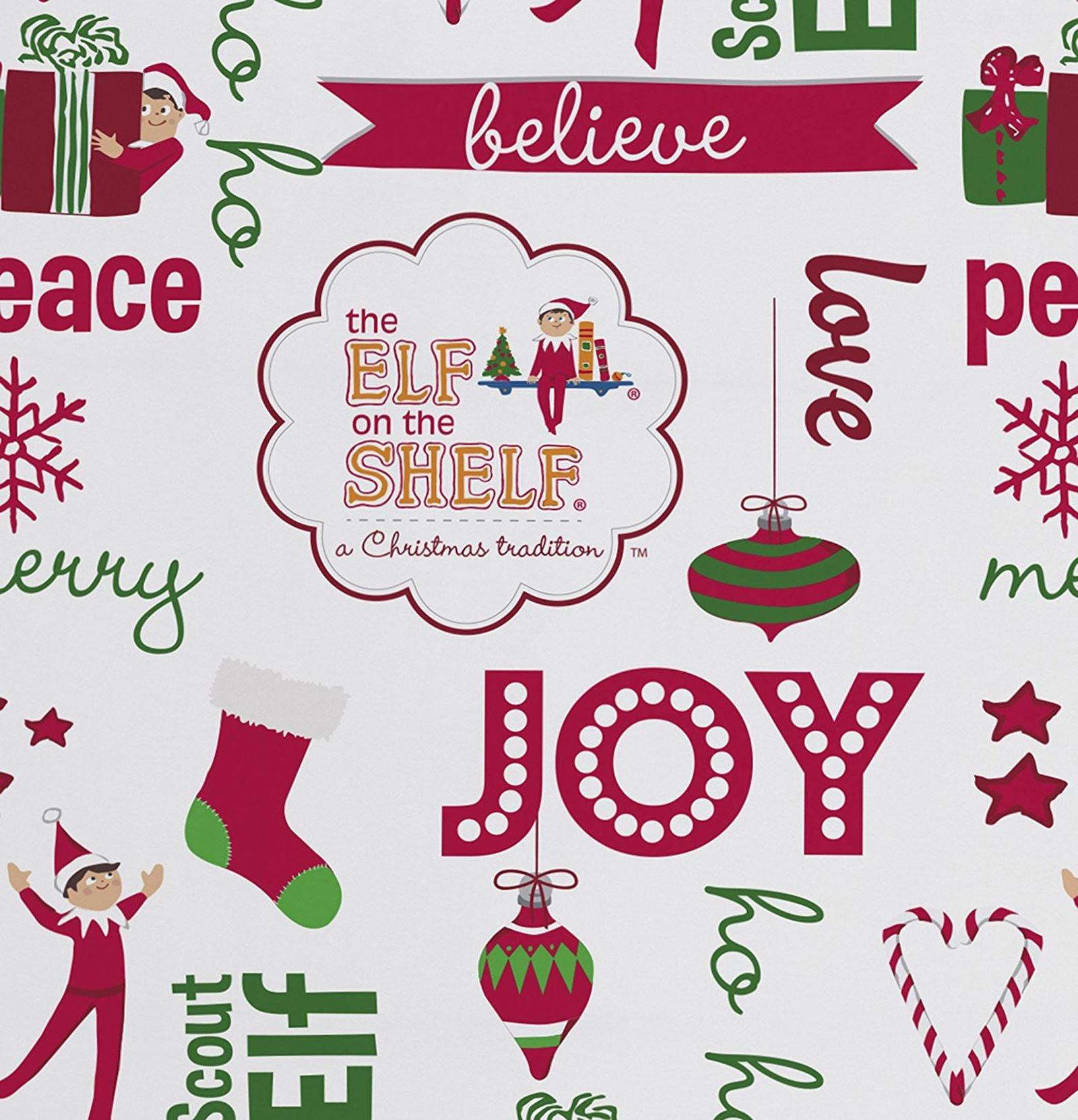 Official The Elf On The Shelf Joy Reversible UK Double /US Full Duvet Cover With 2 Pillowcases Bedding Set