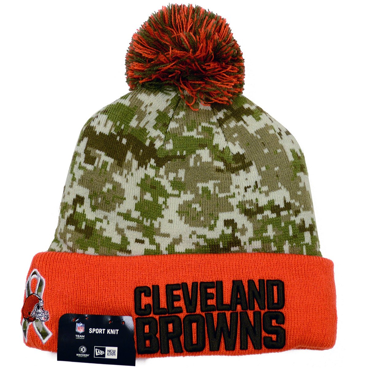 ad54d98070c Amazon.com   New Era NFL 2015 Youth Salute to Service Knit Hat (OSFM ...