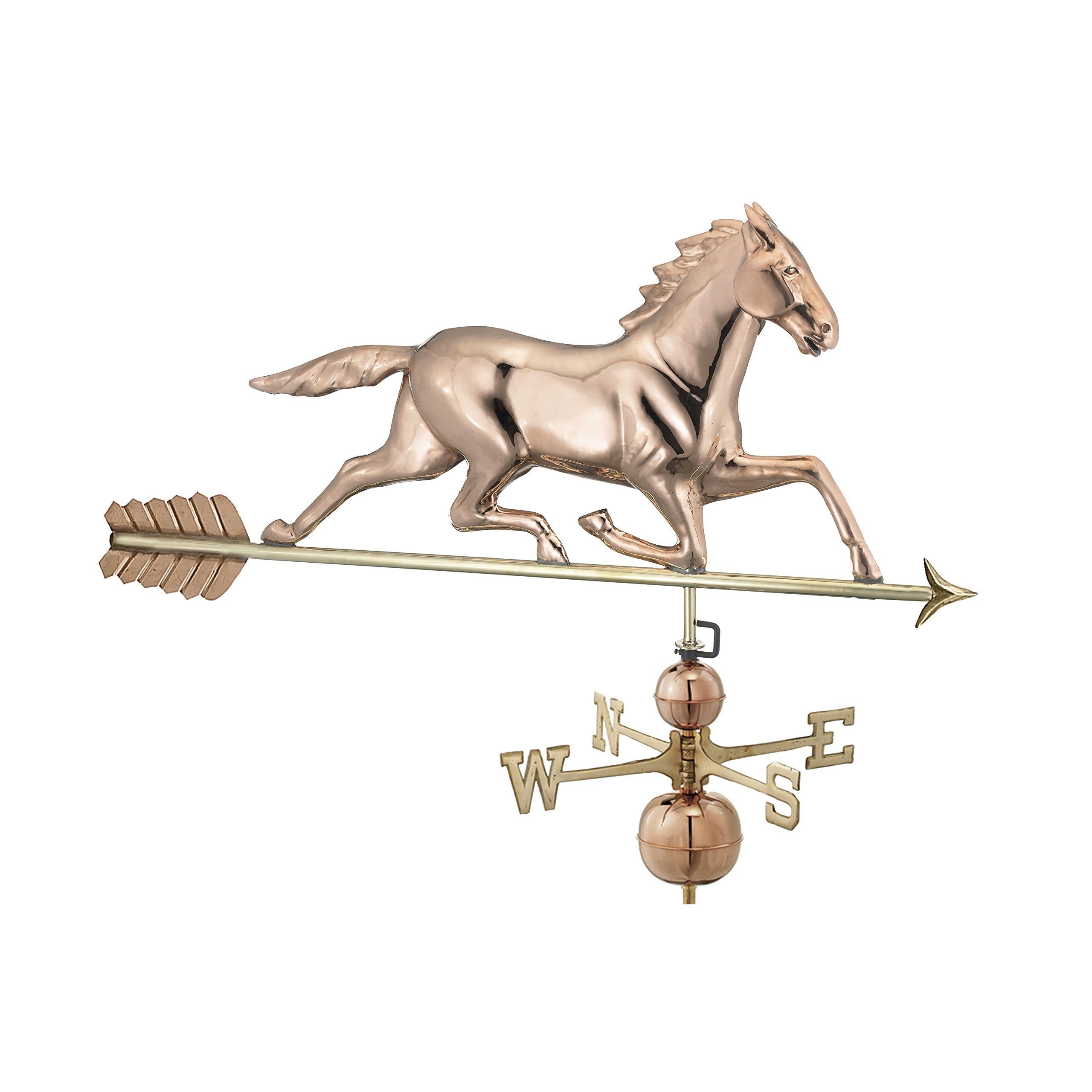 Good Directions Large Horse Estate Weathervane, Pure Copper