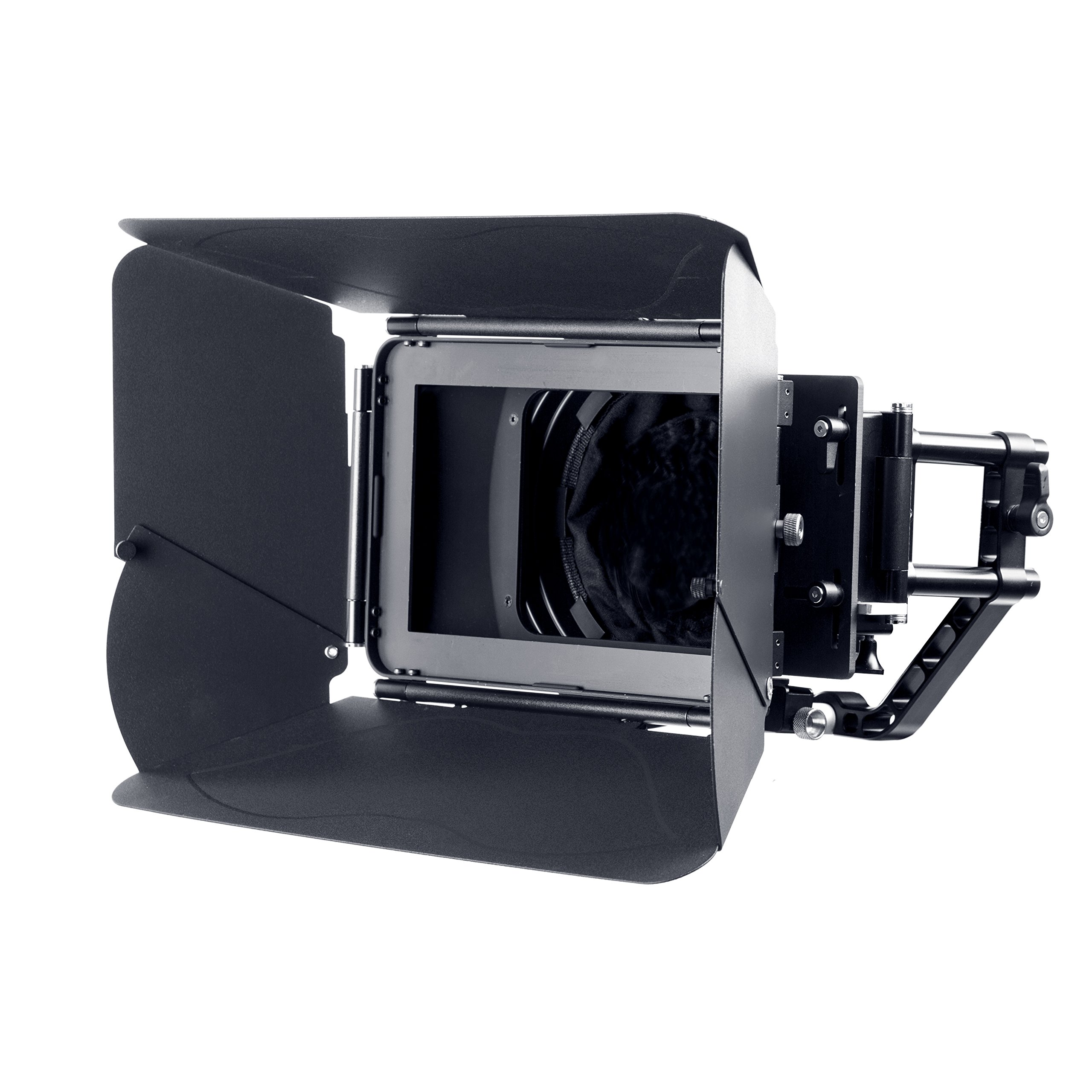 Movo MB400 MK II Professional Matte Box with Swing-Away Arm, French Flags, Side Wings and Universal Anti-Reflection Donut (for 15mm Rod System) by Movo